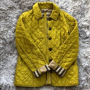 Burberry light jacket in chartreuse. Sz M
